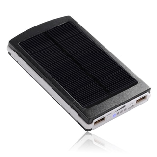 Patuoxun Power Bank 10000mAh Solar Power Dual-USB External Battery Pack for Phone and Tablet/ iPhone/ iPad/ Samsung