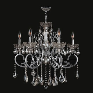 Kronos Collection 6-light Chrome Finish and Clear Crystal Chandelier