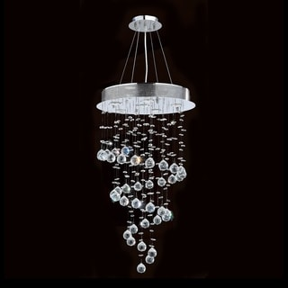 Helix Collection 6-light Halogen Chrome Finish Clear Crystal Spiral Chandelier