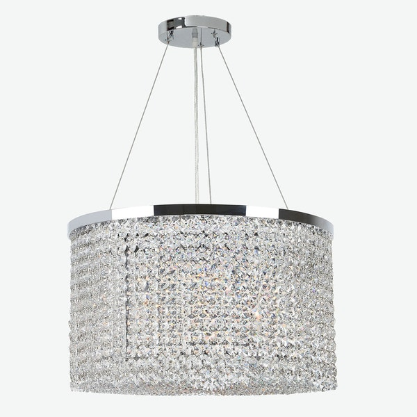 Prism Collection 9-light Chrome Finish and Clear Crystal Chandelier