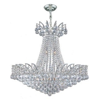 Majestic 11-light Chrome Finish and Clear Crystal 24-inch French Empire Chandelier