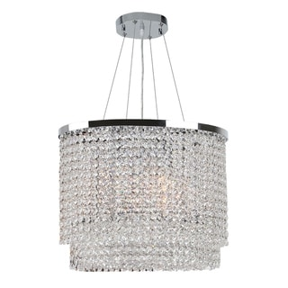 Prism Collection 6-light Chrome Finish and Clear Crystal Chandelier