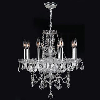 Provence Collection 8-light Chrome Finish and Clear Crystal Chandelier