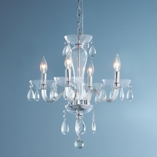 Gatsby Collection 4-light Chrome Finish and Clear Blown Glass Chandelier