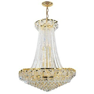 Empire Collection 18-light Gold Finish and Clear Crystal Chandelier