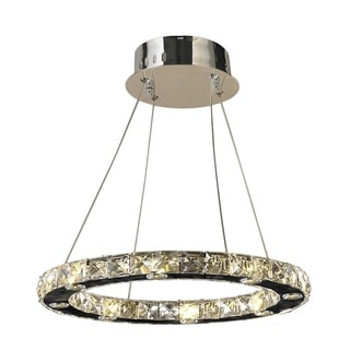 Galaxy 16 LED-light Chrome Finish and Clear Crystal Chandelier