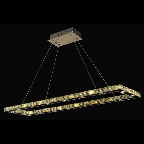 Galaxy 32 LED-light Chrome Finish and Clear Crystal Chandelier