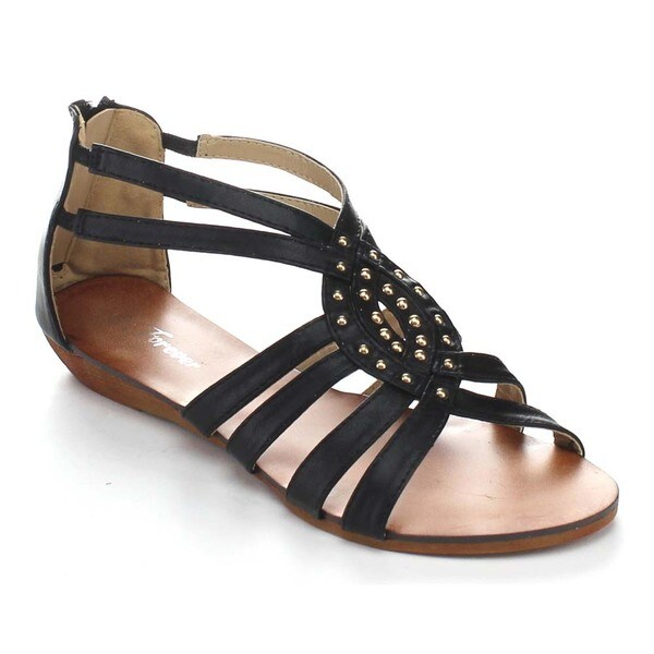Forever Rebel-14 Women's Strappy Back Zipper Sandals