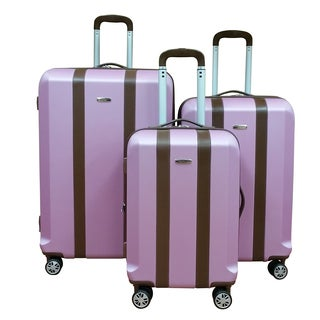 Chocolate New York Salmon Lightweight 3-Piece Hardside Spinner Luggage Set