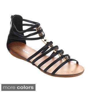 Forever Rebel-16 Women's Gladiator Back Zipper Sandals