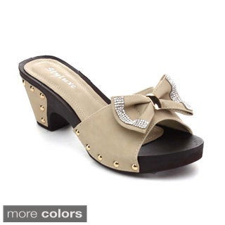Radiant Orlean-28 Women's Slip On Bowknot Platform Sandals