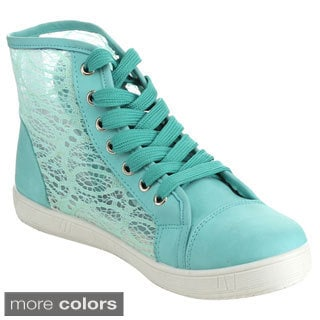 Via Pinky Perla-04 Women's Mesh Lace Up Ankle High Sneakers
