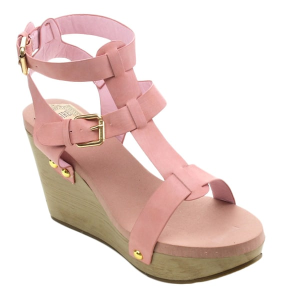 Jacobies Riva-1 Women's Open Toe Strappy Wedges