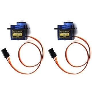 Patuoxun SG90 9G RC Robot/ Helicopter/ Airplane Micro Servo Motor (Pack of 2)