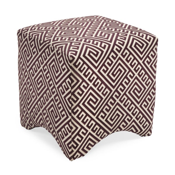 Marisa Graphic Ottoman - Purple