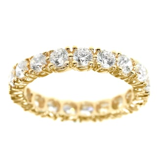 Michael Valitutti Gold Cubic Zirconia Ring