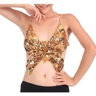 Beaded Sequin Butterfly Top