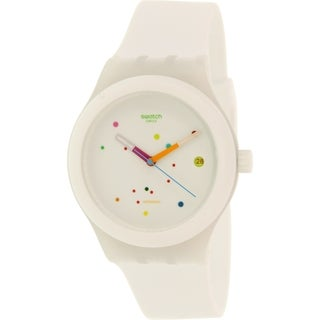 Swatch Women's Originals SUTW400 White Rubber Swiss Automatic Watch
