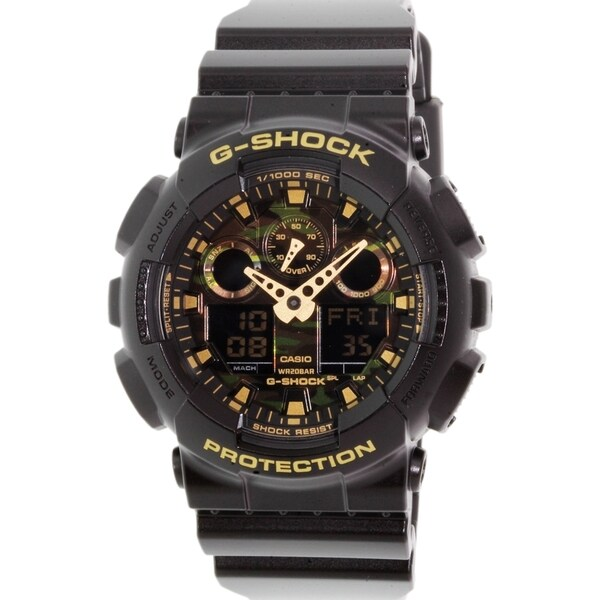 Casio Men's G-Shock GA100CF-1A9 Black Rubber Quartz Watch
