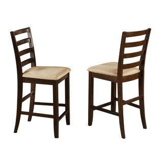 Fairwinds Stool with ladder back in Cappuccino Finish (Set of 2)