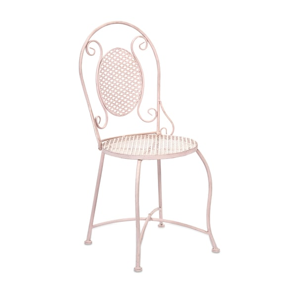 Yates Pink Iron Bistro Chair
