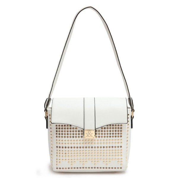 Hue & Ash Studded Buckle Bag