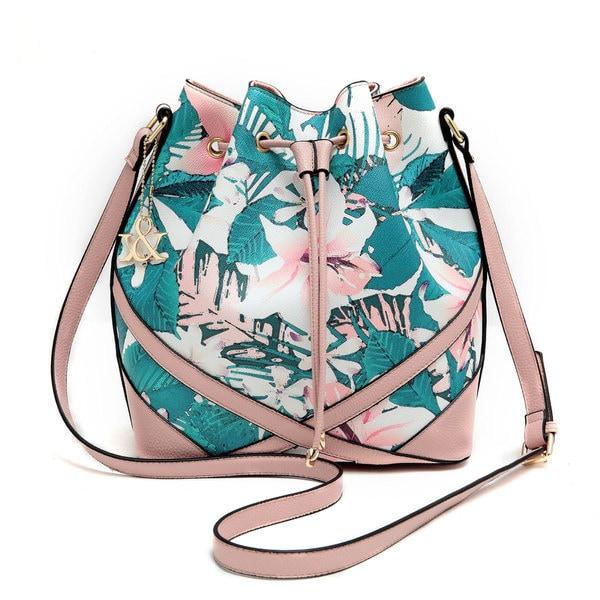 Hue & Ash Lily Print Bucket Bag