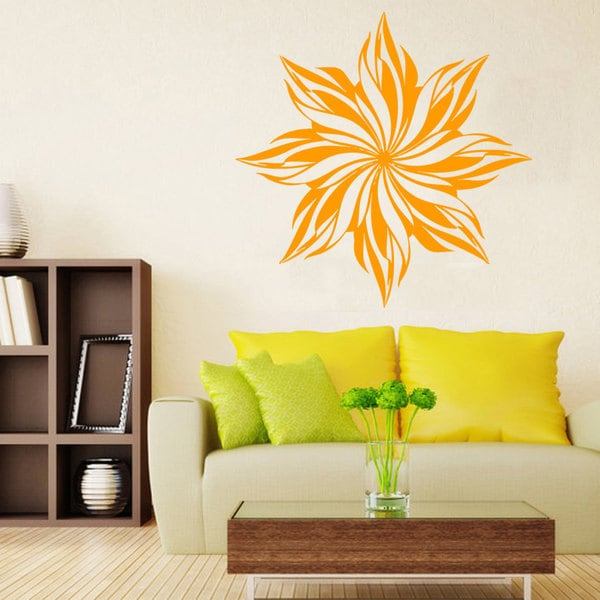 Flower Decoration Vinyl Sticker Wall Art 15433755