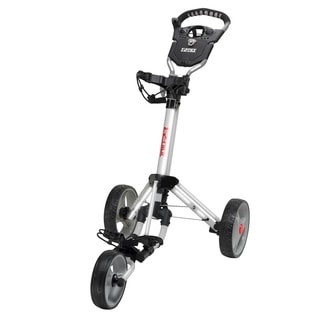 Easy Fold Silver Golf Push Cart