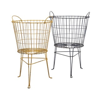 Kaden Wire Basket on Stand (Set of 2)