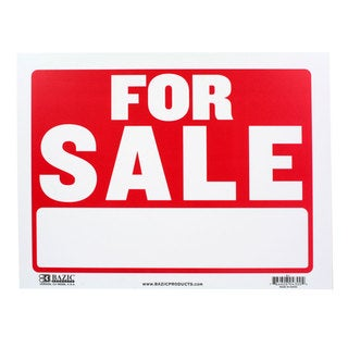 Bazic Small For Sale Sign (9 x 12 inches)