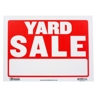 Bazic Small Yard Sale Sign (9 x 12 inches)