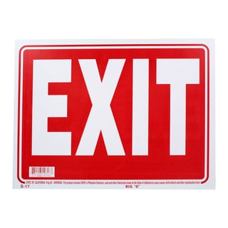 Bazic Small Exit Sign (9 x 12 inches)