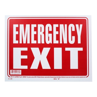 Bazic Small Emergency Exit Sign (9 x 12 inches)