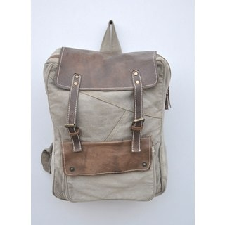 Edison Recycled Canvas/Weathered Leather Backpack