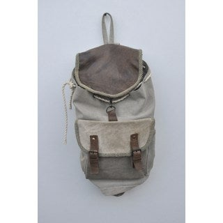 Scout Recycled Canvas/ Weathered Leather Backpack