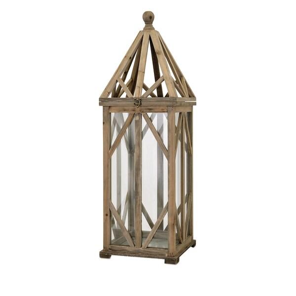 Garmen Wood Lantern - Large
