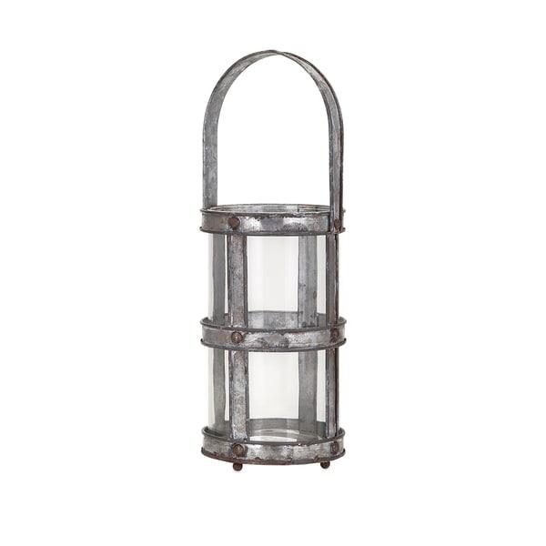 Carley Galvanized Lantern - Small