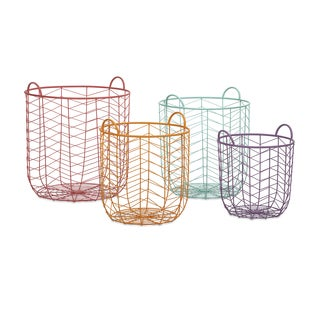Maya Metal Baskets (Set of 4)