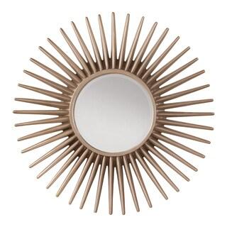 Silver Sun Frame Decorative Beveled Wall Mirror