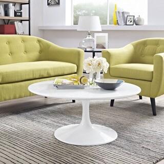 Progress White 36-inch Round Coffee Table