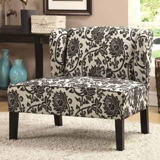 Wing Back Floral Accent Chair
