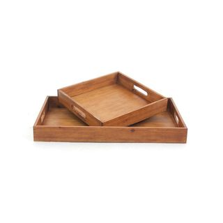 Rosewood Trestle Stand Tea Tray China 13448989