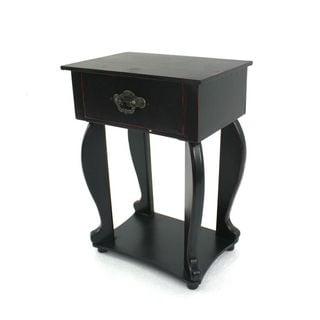 Teton Home 4 Td-005 Black Wood Side Table