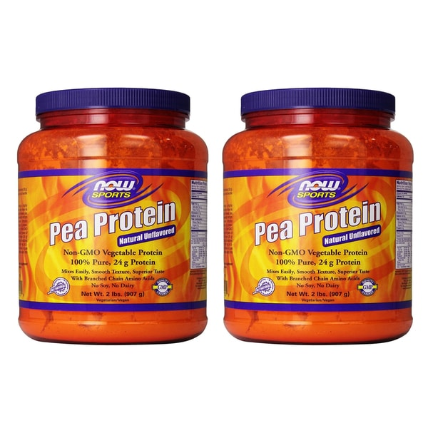 NOW Foods 2-pound Pea Protein Powder (Pack of 2)