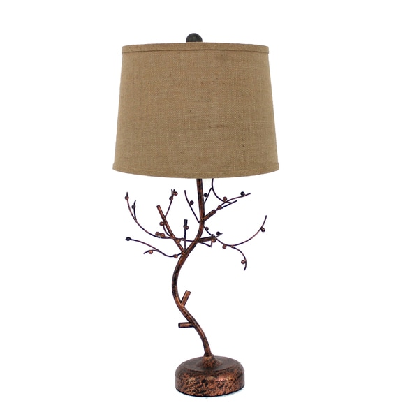 Teton Home 2 Tl-015 Metal Tree Branch Table Lamp