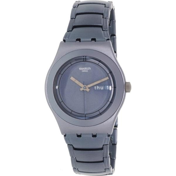Swatch Women's Irony YLM7000AG Blue Aluminum Swiss Quartz Watch