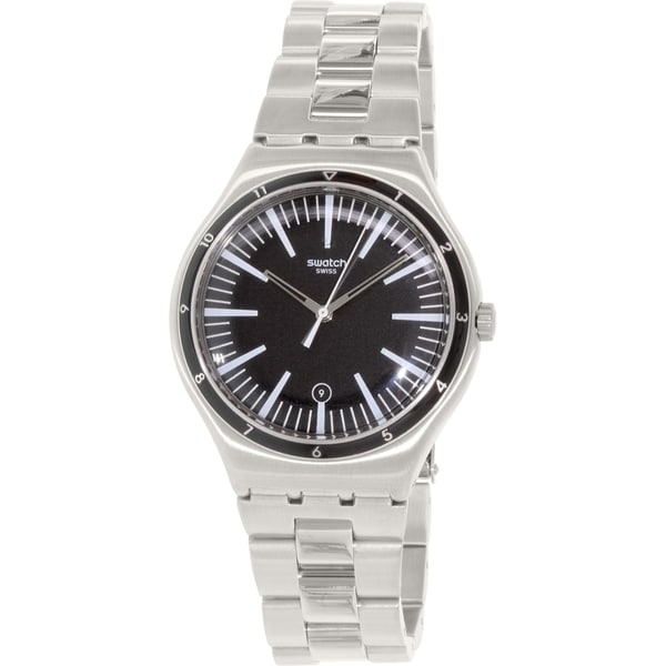 Swatch Men's Irony YWS411G Silver Stainless-Steel Swiss Quartz Watch