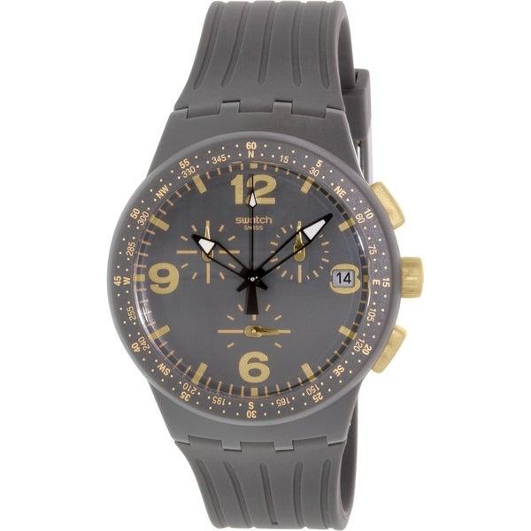 Swatch Men's Originals SUSA401 Grey Silicone Swiss Quartz Watch