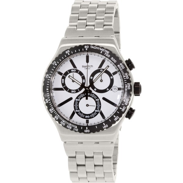 Swatch Men's Irony YVS416G Silver Stainless-Steel Swiss Quartz Watch